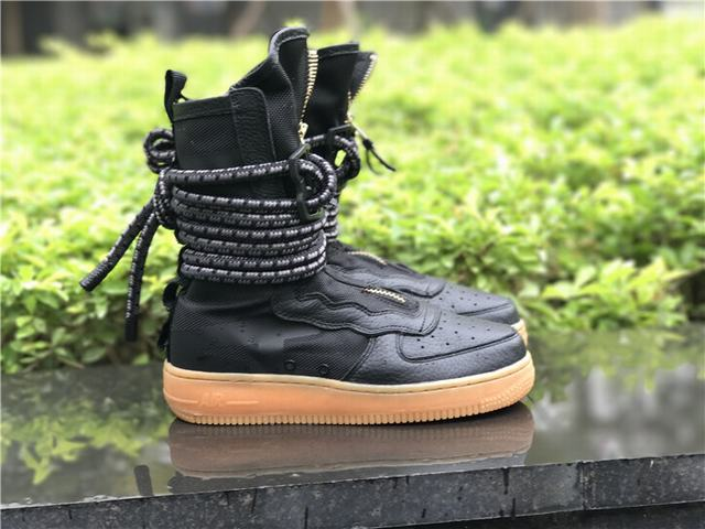 Authenti Nike SF Air Force 1 Black Gum GS