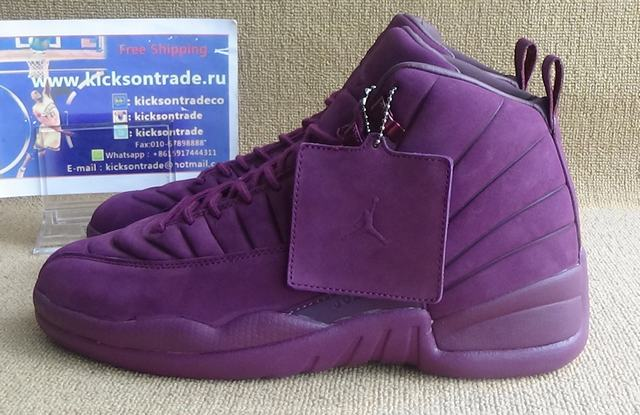 "Authentic AJ12 PSNY x Air Jordan 12 ""Burgundy"""