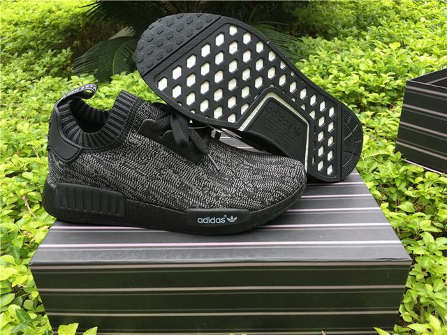 Authentic Adidas NMD R1 Primeknit Pitch Black