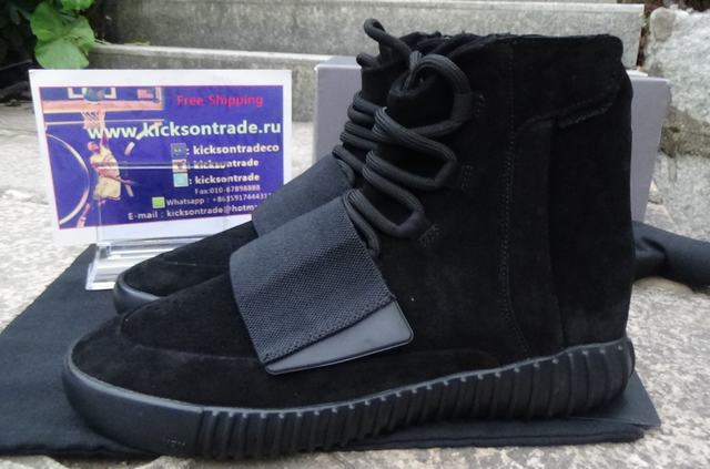 "Authentic Adidas Yeezy 750 Boost ""Pirate Black""(Final Version)"