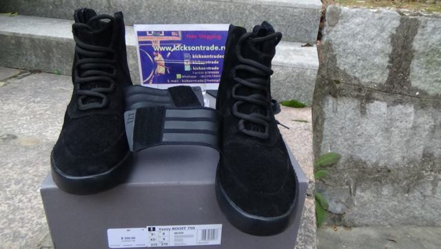 """Authentic Adidas Yeezy 750 Boost """"Pirate Black""""(Final Version)"""