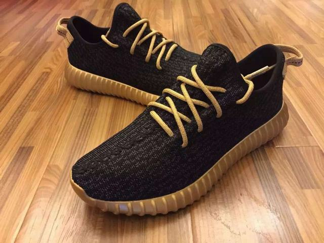 Authentic Adidas Yeezy Boost Low 350 Black&Gold