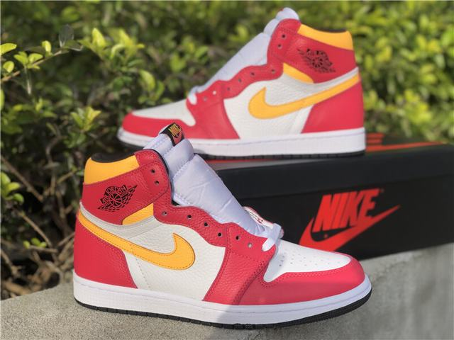 "Authentic Air Jordan 1 ""Light Fusion Red"""