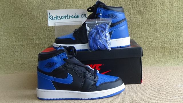 "Authentic Air Jordan 1 High OG ""Royal Blue""  GS 2017"