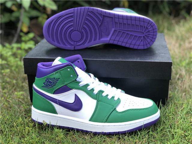 "Authentic Air Jordan 1 Mid ""Incredible Hulk"""