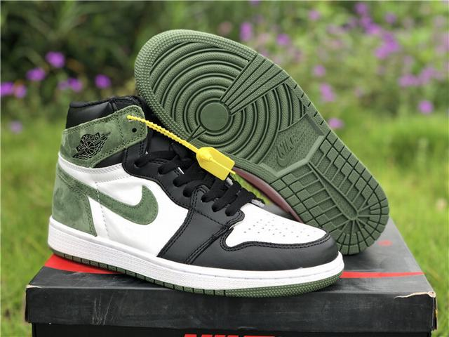 "Authentic Air Jordan 1 OG Hi Retro ""Clay Green"""