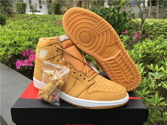 "Authentic Air Jordan 1 OG High "" Wheat """