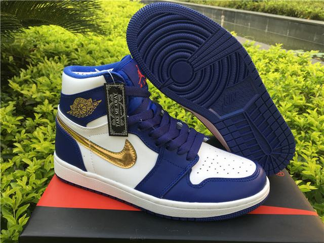 Authentic Air Jordan 1 OG Retro High Olympic Gold