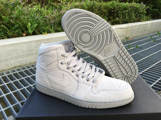 "Authentic Air Jordan 1 Retro High ""Grey Suede"""