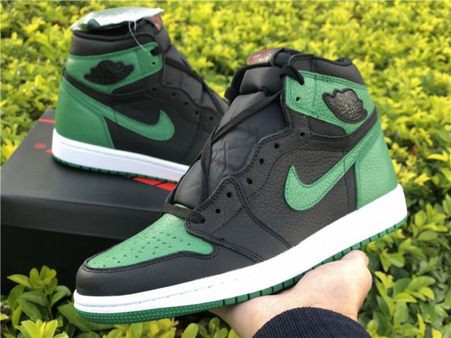 Authentic Air Jordan 1 Retro High OG Pine Green
