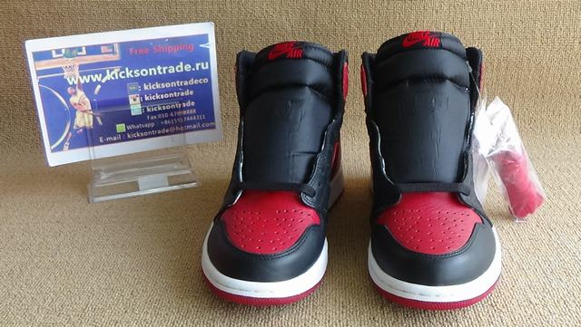 "Authentic Air Jordan 1 Retro OG High ""Banned"" 2016"