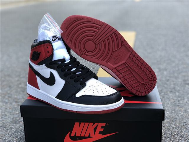 Authentic Air Jordan 1 Stain Black Toe