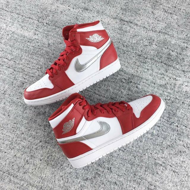 Authentic Air Jordan 1 White&Red