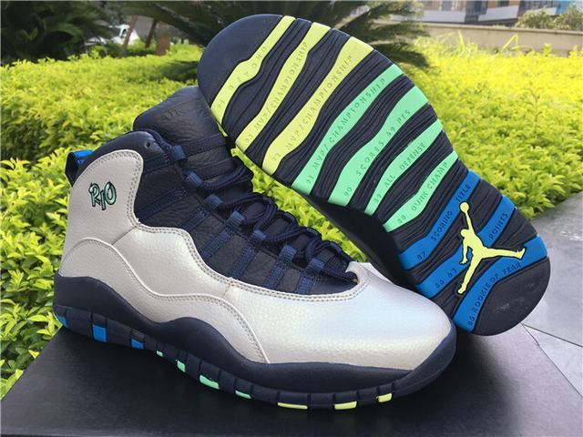 "Authentic Air Jordan 10 ""Rio"""