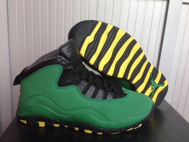 Authentic Air Jordan 10 Oregon Ducks