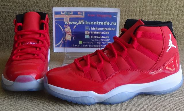 Authentic Air Jordan 11 All Red PE(In Stock)