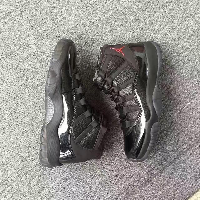 Authentic Air Jordan 11 Black Custom Made