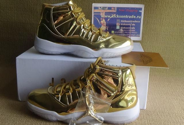 Authentic Air Jordan 11 Gold PE