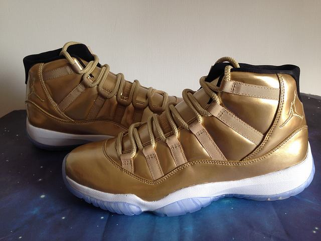 Authentic Air Jordan 11 Gold PE