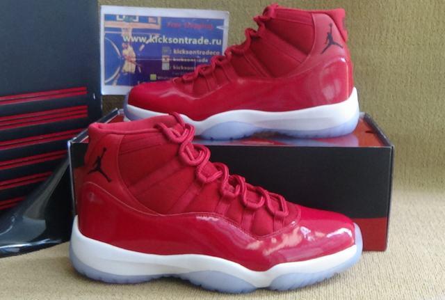 Authentic Air Jordan 11 Grym Red