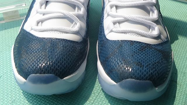 "Authentic Air Jordan 11 Low ""Navy Blue Snakeskin"""