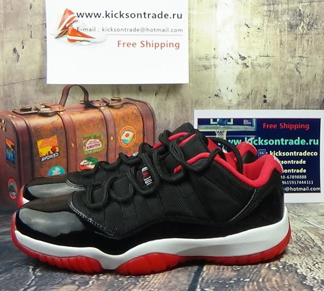 Authentic Air Jordan 11 Low Bred