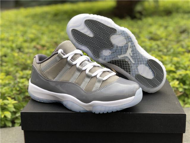 Authentic Air Jordan 11 Low Cool Grey