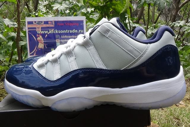 Authentic Air Jordan 11 Low Georgetown