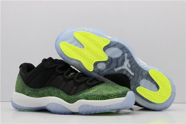 Authentic Air Jordan 11 Low Retro Green Snake
