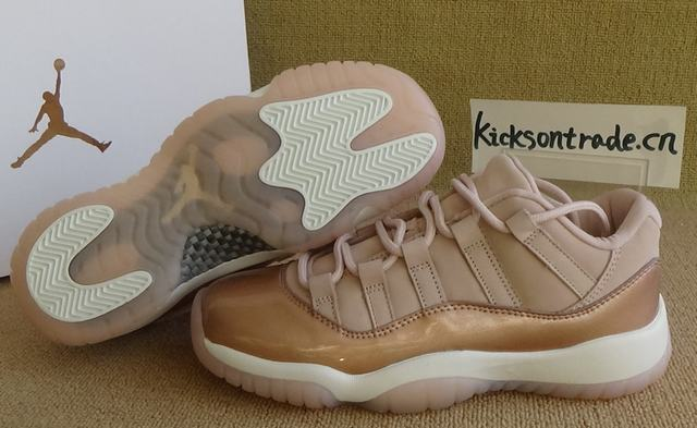 Authentic Air Jordan 11 Low Rose Gold