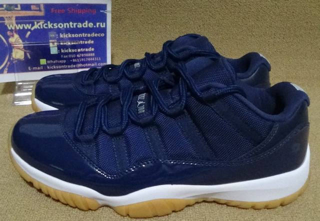 Authentic Air Jordan 11 Navy Blue Gum