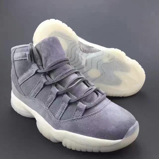"Authentic Air Jordan 11 Premium ""Grey Suede"" GS"