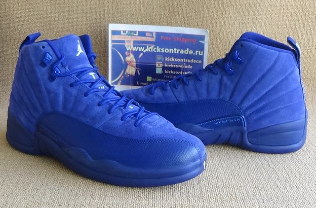 "Authentic Air Jordan 12 ""Deep Royal Blue"""