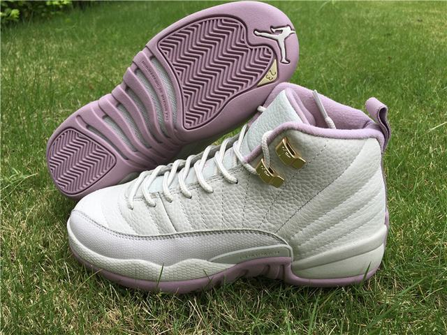 Authentic Air Jordan 12 GS Plum Fog