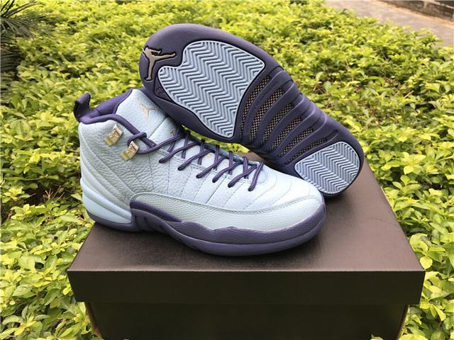 Authentic Air Jordan 12 GS Purple Dust