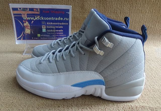 Authentic Air Jordan 12 GS Wolf Grey