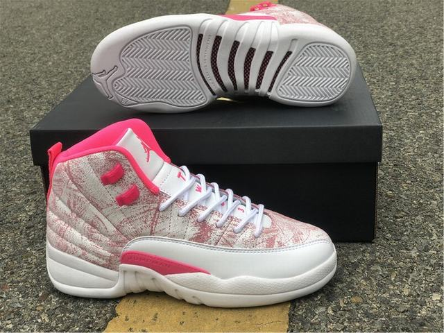 "Authentic Air Jordan 12 GS""Arctic Punch"""