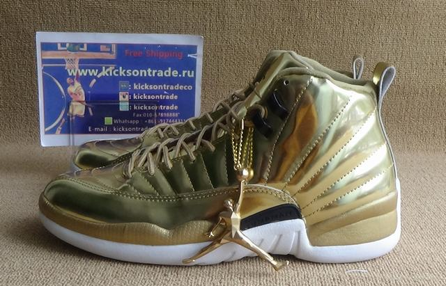 Authentic Air Jordan 12 Gold
