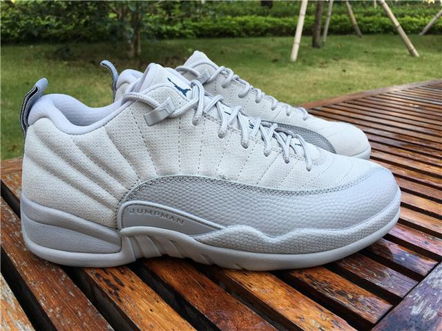 "Authentic Air Jordan 12 Low ""Grey"""