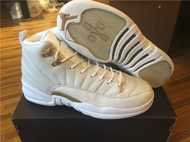 Authentic Air Jordan 12 OVO White GS(In Stock)