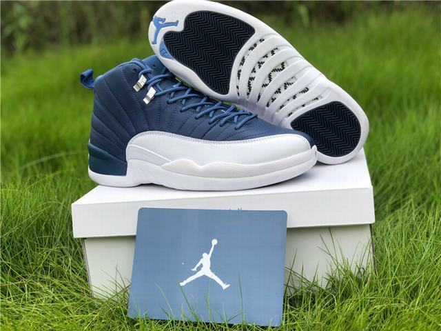 Authentic Air Jordan 12 Stone Blue