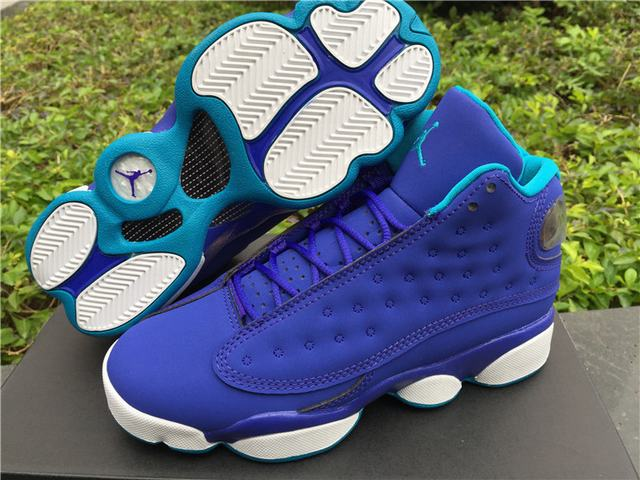 Authentic Air Jordan 13 Blue GS