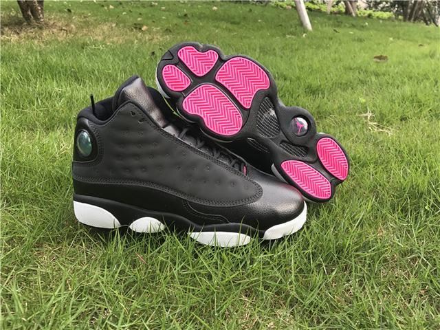 """Authentic Air Jordan 13 GS """"Black Grey-Pink"""""""