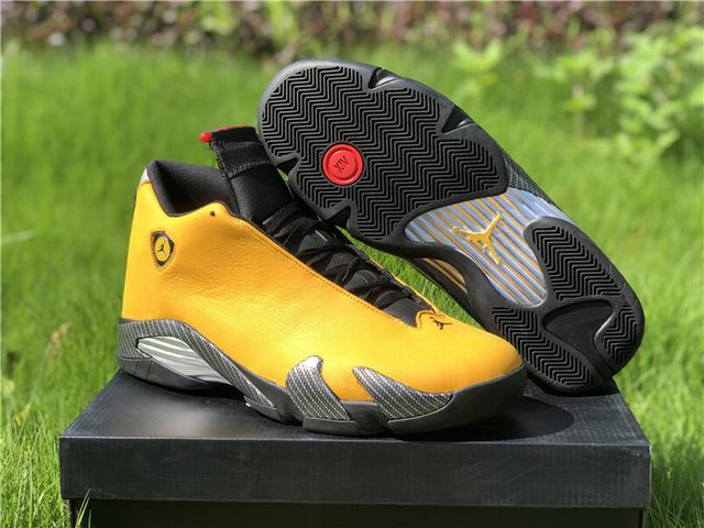 "Authentic Air Jordan 14 ""Ferrari"" Yellow"