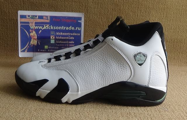 "Authentic Air Jordan 14 ""Oxidized Green"""
