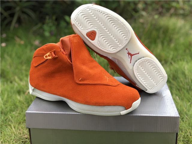 "Authentic Air Jordan 18 ""Orange Suede"""