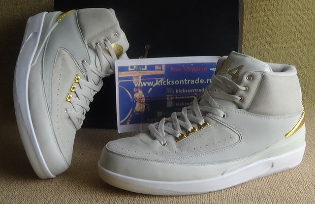 Authentic Air Jordan 2 Gold