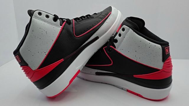 Authentic Air Jordan 2 Infrared Cement