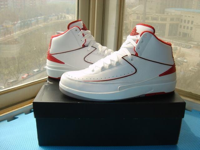Authentic Air Jordan 2 White&Red