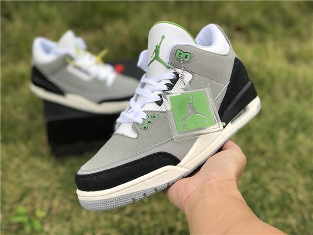 "Authentic Air Jordan 3 ""Chlorophyll"""